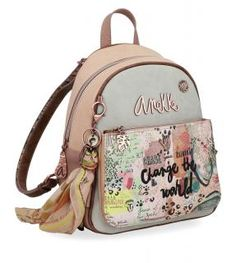 !!!Anekke Jungle Nature Anhänger Tuch kleiner Alltagsrucksack Leather Backpack, Fashion Backpack, Backpacks, Bags, Style, Products, Models, Pockets, Key Chains
