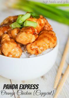 Panda Express Orange Chicken {Copycat}. #dinner #recipe http://www.highheelsandgrills.com/2014/03/panda-express-orange-chicken-copycat.html