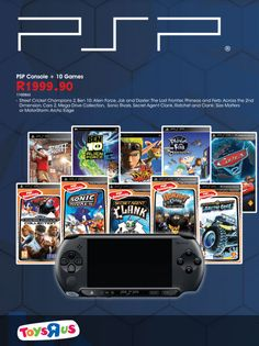 Do you have gaming withdrawal symptoms?  Then maybe it's time to start experiencing gaming on the go with this awesome 10-game #PSP bundle.  Valid until 27 October while stock lasts. #LetsPlay