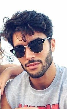 Men Retro Sunglasses Half Frame Clubmaster Classic Frame Square