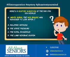 Here's a history question of the day for you people!  #Historyquestion #mystery #pleasetestyourmind #tryandbeat http://www.allaboutseniors.in/