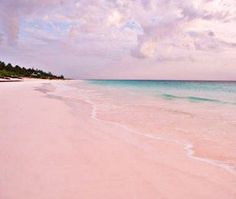 Pink Sands Beach in Bahamas is about 3.5 miles of pink sand along the island coast! (Photo: Robert Harding Picture Library Ltd / Alamy)