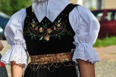Polish Folk Art, Folk Embroidery, Poland, Costumes, Clothing, Black, Tops, Dresses, Women