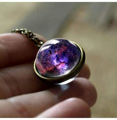 2018 New Nebula Galaxy Double Sided Pendant Necklace Universe Planet Jewelry Glass Art Picture Handmade Statement Necklace - 7 Jewelery, Jewelry Necklaces, Bracelets, Heart Necklaces, Trendy Necklaces, Planet Jewelry, Handmade Statement Necklace, Glass Art Pictures, Diamond Solitaire Necklace