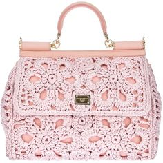 Pink raffia 'Miss Sicily' tote from Dolce & Gabbana #Trueandco #Truespring