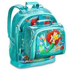 Ariel Backpack And Lunch Box
