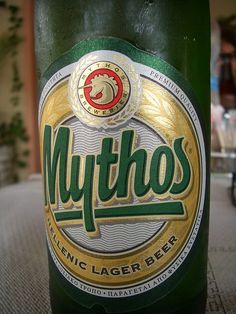 The greek beer.Everything is a mythos.Mythos means myth.