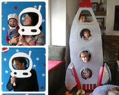 2nd Birthday Party For Boys, Baby Birthday Themes, Birthday Diy, Creation Preschool Craft, Preschool Crafts, Space Party, Space Theme, Space Crafts For Kids, Diy Rocket