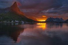 Photo Midnightsun at Reine, Lofoten, Norway by Jørn Allan Pedersen on 500px