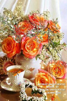 Good Morning Sunday Images, Good Morning Roses, Good Morning Beautiful Quotes, Good Morning Cards, Beautiful Gif, Good Morning Greetings, Beautiful Flowers, Bling Wallpaper, Live Wallpaper Iphone