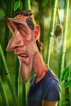 "CARICATURAS DE FAMOSOS: ""Matthew Fox"" por Anthony Geoffroy"