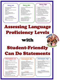 Assessing Proficiency With Student Friendly Can Do Statements