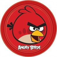 Do you have a crazy addicted Angry Birds gamer in your household? Surprise them with these Angry Birds Round Plates. Cumpleaños Angry Birds, Red Angry Bird, Party Plates, Party Tableware, Dinner Plates, Costume Halloween, Bird Birthday Parties, 5th Birthday, Birthday Ideas