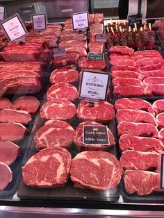 Meat display restaurant butcher shop Ideas for 2019 Meat Butcher, Butcher Shop, Carne Asada, Steaks, Barbecue, Meat Store, Meat Restaurant, Aged Beef, Meat Loaf Recipe Easy