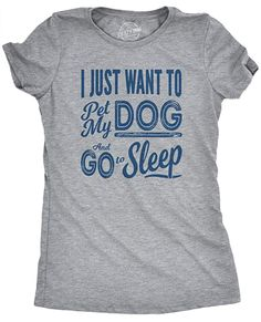 Crazy dog T-shirt Funny Shirts, Cool Shirts, Questions To Get To Know Someone, Getting To Know Someone, This Or That Questions, Crazy Dog, Workout Tank Tops, Go To Sleep, What To Wear To A Wedding