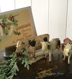 Sweet Cottage Dreams: A Cottage Style Christmas - 2015 Primitive Country Christmas, Cottage Christmas, Christmas Love, Xmas, Tacky Christmas, Antique Christmas, Merry Christmas, Christmas Tablescapes, Christmas Decorations