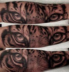 Tiger Eyes Tattoo, Tattoos, Animals, Tatuajes, Animales, Animaux, Tattoo, Animal, Animais