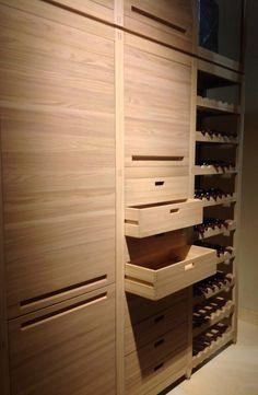 Wine Rack Storage, Storage Shelves, Kitchen Storage, Shelf, Kitchen Furniture, Kitchen Interior, Home Interior Design, Kitchen Design, Armoire