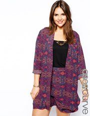 ASOS CURVE Exclusive Soft Blazer In Festival Print