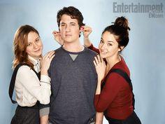 Brie Larson, Miles Teller, Shailene Woodley- The Spectacular Now.  love triangle story from sundance aug 4