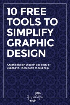These 10 free graphic design tools and resources will help you make better graphics for your brand, whether it's a blog or a small business. || garnishing.co