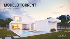 Torrent concrete modular house 4D 2P 2.225 - inHAUS Porches, Plan Design, Ground Floor, Concrete, House Plans, Construction, Exterior, House Design, House Styles
