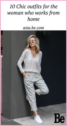 Slouchy grey knit and pants