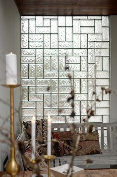 I love this idea. Let some light in through the wall :)