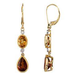 Citrine and Diamond earings 66329 60001 P