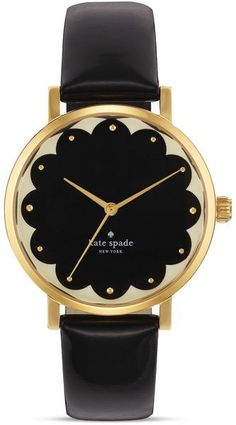 Kate Spade Scallop Black Metro Watch