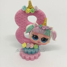Vela Unicórnio no Lol Doll Cake, Jumping Clay, Doll Party, Lol Dolls, Air Dry Clay, Party Cakes, Clay Crafts, Cake Toppers, Fondant