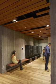 Image 3 of 26 from gallery of 300 Ivy Street / David Baker Architects. Photograph by Bruce Damonte Apartment Mailboxes, Mail Room, Elevator Lobby, David Baker, Appartement Design, Lobby Interior, Student House, Lobby Design, Condo Living