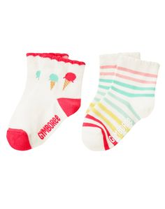 Ice Cream Socks Two-Pack (Gymboree 6m-5T)