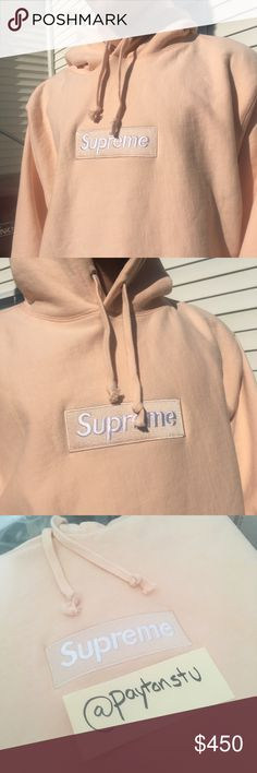 Supreme box logo hoodie peach Received this as a gift but it is too large  for 2ca830724e7