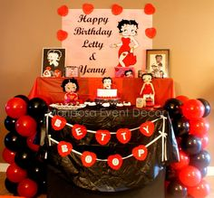 Betty Boop Birthday Party - by Mariposa Event Decor
