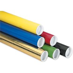 x Black Blue Gold Green Red Yellow Shipping Mailer Mailing Storage Postal Tubes 50 Pc