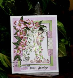 Nancy Hill with Tutti Designs with another oriental card made with the Tutti Designs Geisha Girl