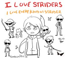 • homestuck Dave Strider Dirk Strider artstuffs and I need to stop drawing striders so much •