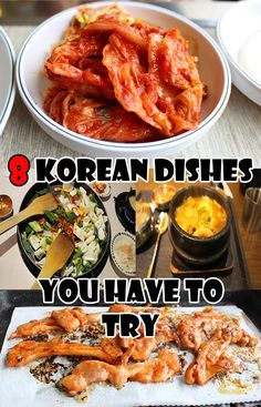 8 of the best dishes we ate in South Korea including BBQ, gimbap and more. Yummy!
