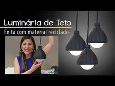 DIY, LUMINÁRIA DE TETO, LUMINÁRIA PENDENTE, DO LIXO AO LUXO FÁCIL - YouTube Diy And Crafts, Cancer, Ceiling Lights, Youtube, Design, Home Decor, Lampshade Ideas, Homemade Chandelier, Creative Things