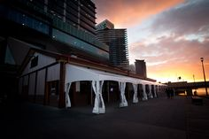Receive your guests in the stunning marquee on the north riverside face, carefully erected to compliment the building's heritage and looking across the Yarra River towards the outstanding city views.