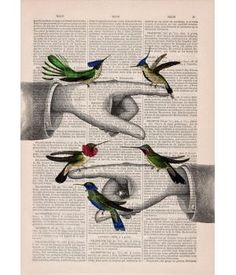 Altered art on upcycled book pages @metdehand Made By @El Bosque Animado