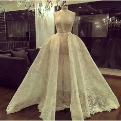 This glimmering wedding gown is a haute couture piece that brides can use a inspiration. We are dressmakers that can produce all types of custom #weddingdresses for you. We can also make #replicaweddingdresses that look like the original but cost way less. Get pricing on any design at www.dariuscordell.com/