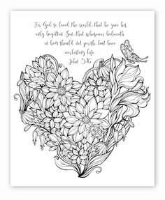 "FREE printable Christian, Religious adult coloring sheets w/ bible verses. Time Warp Wife offers a FREE printable design from her website every Friday! You can find it under the Bible Study Resources ""Learning to Love"" Study links. Bible Verse Coloring Page, Coloring Book Pages, Coloring Sheets, Scripture Art, Bible Art, Bible Verses, Printable Designs, Free Printable, Free Coloring"