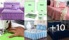 CUBRE CAMA CON PATRONES :Tipo de tela: puede elegir la tela que más le guste seleccionando de un catálogo dedicado de telas usadas en la sábana y recibidas. Pattern Drafting Tutorials, Sewing, Ideas, Frases, Bag, Sequin Outfit, Dressmaking, Couture, Stitching