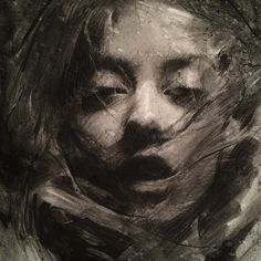*Casey Baugh - Detail of recent charcoal Charcoal Portraits, Charcoal Art, Charcoal Drawings, Portrait Sketches, Portrait Art, Figure Painting, Painting & Drawing, Drawing Tips, Illustration Mode