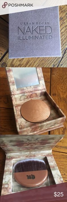 Urban Decay Naked Illuminated Brand new Urban Decay Naked Illuminated shimmering powder in the shade Lit. Product is without original box but it has never been used. Urban Decay Makeup Luminizer