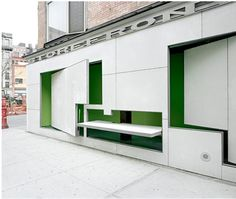 Storefront for Art + Architecture - New York - Steven Holl - Vito Acconci + Steven Holl - 1993 Steven Holl Architecture, Kinetic Architecture, Art Et Architecture, Architecture Details, Little Italy, Shop Interior Design, Store Design, Moving Walls, New York