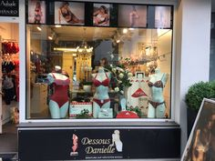 Dessous Danielle im Lindenthal storefront in Köln, Germany, showcasing swimwear made with LYCRA® fiber. Take off with LYCRA® fiber!