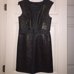 Mark Brown and Black Leather-like Dress Mark Brown and Black Leather-like Dress size Medium Mark Dresses Maxi